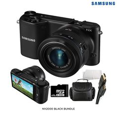Samsung 20.3MP 1080p Touchscreen Smart Digital Camera & Accessories - Assorted Colors at 54% Savings off Retail!