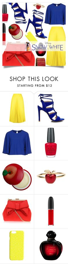"""""""Snow White"""" by sonny-m ❤ liked on Polyvore featuring HotSquash, Steve Madden, Alexander McQueen, OPI, Tony Moly, Alison Lou, Miss KG, MAC Cosmetics, Christian Dior and Oscar de la Renta"""