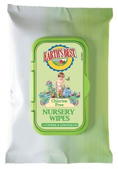 Earth's Best Nursery Wipes Travel Pack, Lavender and Lemongrass, 20 Count (Pack of 12) for sale