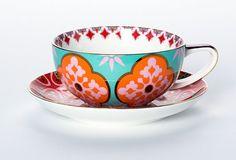 Marigold Magic Purple Cup & Saucer | T2 Tea