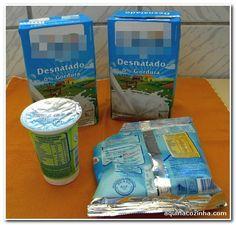 Receita de iogurte desnatado caseiro