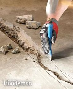 home repairs,home maintenance,home remodeling,home renovation Concrete Garages, Concrete Driveways, Concrete Floors, Diy Concrete, Concrete Floor Repair, Repair Cracked Concrete, Walkways, Concrete Porch, Concrete Overlay