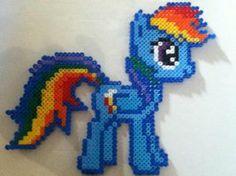 Rainbow Dash Perler Bead by Kryptonite-Kid