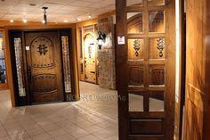 knotty alder wood door show room