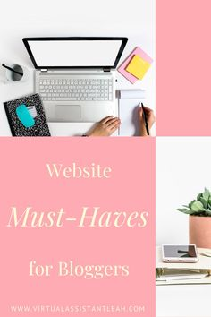 Your website is your biggest first-impression maker, learn what website must-haves bloggers use to build a successful website. Creative Business, Business Tips, Online Business, Create Your Own Business, Blog Topics, Virtual Assistant, Blogging For Beginners, Make Money Blogging, How To Start A Blog