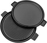 #2: Utopia Kitchen Cast Iron Reversible Griddle Pizza Pan with Dual Handle 12 Inch