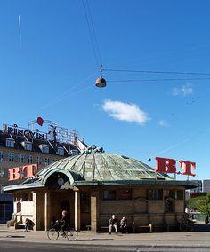 Trianglen on østerbro Copenhagen tramway waiting-room 1904-1907 by jensen-klint