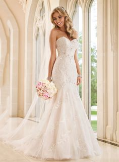 What style wedding dress is for you pinterest mermaid wedding attractive sweetheart mermaid floor length lace wedding dress junglespirit Image collections
