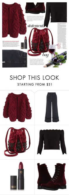 """""""Wine Date"""" by crochetragrug ❤ liked on Polyvore featuring Chicwish, Miu Miu, Steve Madden, Alexander McQueen, Lipstick Queen and Frye"""