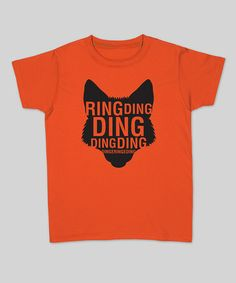 Take a look at this Orange 'Ring Ding Ding' Fox Tee - Men by KidTeeZ on #zulily today!