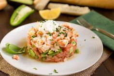 Tomato-Shrimp-Avocado Salad with Burrata - Recipe