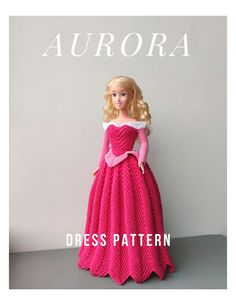 Barbie Crochet Gown, Crochet Barbie Patterns, Barbie Clothes Patterns, Crochet Barbie Clothes, Doll Dress Patterns, Barbie Dress, Barbie Doll, Dolls, Crochet Princess