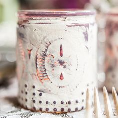 Vintage Inspired Depression Glass Votive Holders Victorian Purple