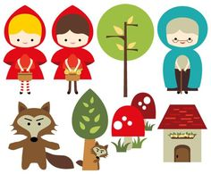 personajes cuento caperucita roja - Buscar con Google