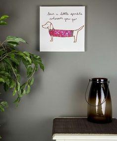 Look what I found on #zulily! Dog 'Sparkle' Canvas Wall Art #zulilyfinds