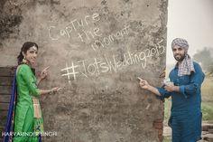 Punjabi save the date engagement photoshoot