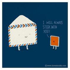 I will always stick with you!  #SnailMail #PenPal #PenPals www.NewFriends4U.com
