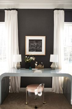Love the black walls
