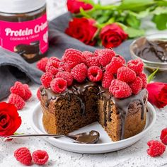 How about this delicious protein chocolate cake 😍🍰 👉 Ingredients & recipe: • 100g of yogurt • 1 banana • 1 egg • 20g of Women's Best FitWhey Protein Chocolate • 50g spelled bran • 60g spelled flour • 1tsp baking powder • 150ml of milk • 2tsp cocoa 👉 Mash the banana then mix it with yogurt, egg & milk. Then gradually stir in the remaining ingredients and place the dough in a banking pan. Bake at 170°C for about 45min. Finaly top the cake with your desired toppings.