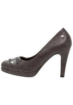 ¡Consigue este tipo de zapatos de salón de DNA Footwear BV ahora! Haz clic para ver los detalles. Envíos gratis a toda España. DNA Footwear BV Zapatos altos grey/brown: DNA Footwear BV Zapatos altos grey/brown Zapatos   | Material exterior: piel de imitación de alta calidad, Material interior: cuero de imitación/tela, Suela: fibra sintética, Plantilla: cuero de imitación | Zapatos ¡Haz tu pedido   y disfruta de gastos de enví-o gratuitos! (zapatos de salón, salon, court, courts, pu...