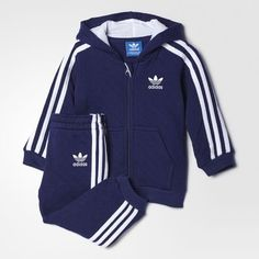 Quilted Hooded Trainingspak - blauw