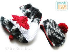 Ravelry: Canadian Maple Leaf Backpack and Beret pattern by Ira Rott