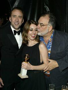 Nicolas Cage, Sofia et Francis Ford Coppola Nicolas Cage, Vanity Fair, Robert Schwartzman, Francis Ford Coppola, Sofia Coppola, Hollywood, Red Carpet Event, Tv Guide, People