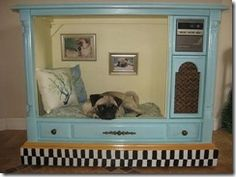 Dog house made from old TV