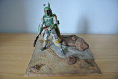 inch Custom Diorama Base for a inch Action Figure. Custom Action Figures, Star Wars, Dioramas, Starwars, Star Wars Art