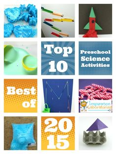 Top 10 Preschool Science Activities of 2015 - The most popular posts of the year! Preschool Science Activities, Science For Kids, Science Experiments, Rocket Craft, Discipline, Play Based Learning, Letter Sounds, Literacy, Crafts For Kids
