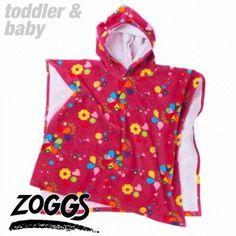 Zoggs Towels - Zoggs Ellis Poncho Towel - Multi Pink