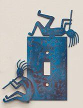 southwest switchplates | Metal Art Kokopelli Switchplate