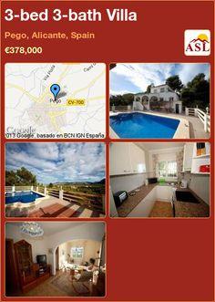 3-bed 3-bath Villa in Pego, Alicante, Spain ►€378,000 #PropertyForSaleInSpain