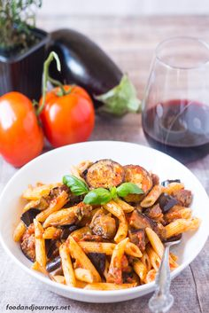 Italian | Sicilian | Eggplant | Pasta. Pasta alla Norma. Sicilian? Pasta? Pasta alla Norma is the first thing that comes to mind. A pasta dish that's got eggplant as its star!