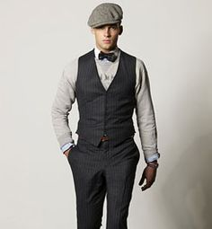 grooms attire. vest and add suspenders under <3