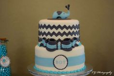 Blue and Gray Elephant  Baby Shower Party Ideas | Photo 2 of 24