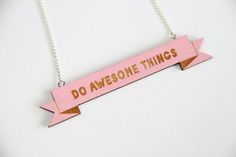 Cool banner necklace #doawesomethings