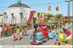 All the fun of Butlins in the at Filey, North Yorkshire. A chair lift and Puffing Billy what more could any child want . but tast. Holiday Day, Holiday Places, Holiday Photos, Visit Yorkshire, North Yorkshire, Butlins Holidays, British Holidays, Bognor Regis, Blue Velvet Dining Chairs