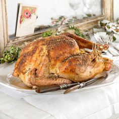 Salt and pepper roasted turkey:  Get the family over and enjoy this delicious roast.