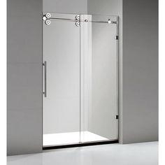 frameless sliding shower door in chrome with 48 in base bathroom pinterest shower kits shower doors and chrome - Home Depot Glass Shower Doors