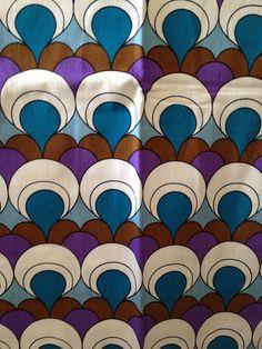 60s-70s geometric curtains