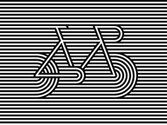 striped letter illusion design - Google zoeken