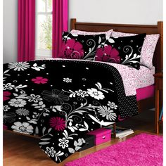 walmart.com- Twilight Garden Bed in a Bag Bedding Set.   Online $34.00-  $44.00