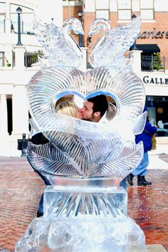 Valentines Heart Ice Carving