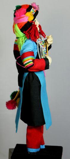 Handmade Chiangmai Dolls Making Centre Traditional Liso (Lisu) Doll