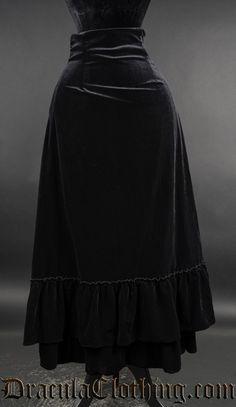 https://draculaclothing.com/black-velvet-two-layer-bustle-skirt.html