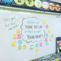 Just started a new nine weeks and I like my kids to set some high, but realistic goals for themselves. Journal Prompts, Writing Prompts, Daily Journal, Journals, Classroom Activities, Classroom Organization, Classroom Ideas, Morning Activities, Bell Work
