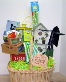 Welcome Spring Gardener's Basket by The Gift Basket Diva (she takes care of all of my gift basket needs) Garden Basket, Welcome Spring, Gift Baskets, Organization, Diva, Organize, Crafts, Craft Ideas, Sympathy Gift Baskets