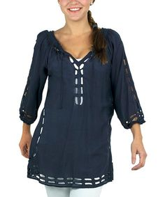 Loving this Navy Holy Top on #zulily! #zulilyfinds