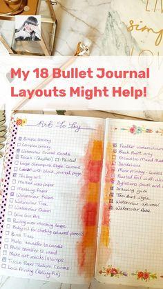 Goal Journal, Bullet Journal Hacks, Bullet Journal Spread, Journal Layout, Bullet Journals, Journal Ideas, Planner Organisation, Sticker Organization, Journal Aesthetic